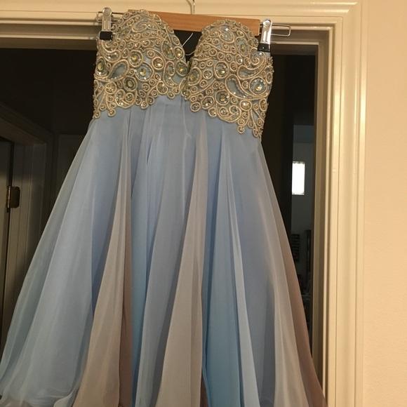 Short Beaded Strapless Dress Size